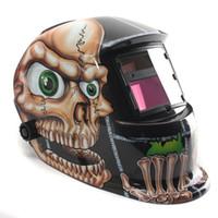Wholesale New Stylish Top Quality Skull Big Eyes Solar Auto Darkening Welding Helmet Arc Tig Mig Mask Grinding Mask Best Price
