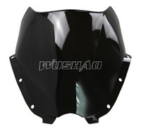 Wholesale Motorcycle Double Bubble Windshield Motorbike WindScreen For Hyosung GT125 GT250R GT650R GT650S UM V2S R Black Color