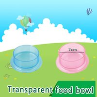 Wholesale NEW Free transportation Small pet transparent food bowl Hamsters bowl Accessories PVC materialSimple and elegant