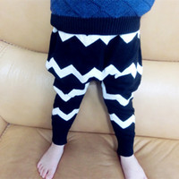 Cheap 2015 Baby Boys Girls Cross Wave Striped Halen Pants Fashion PP Crochet Softy Causal Long Trousers Children Clothing Kids Blue Black K4287