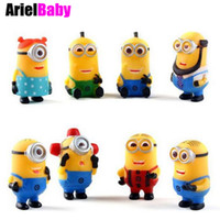 Wholesale ArielBaby Minions Figure Toys Set Despicable Me PVC Doll cm D Eye Kids Toys Collections Free Tracking