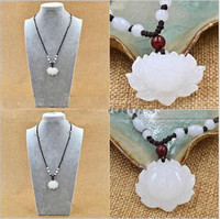pendant natural jade - Jade lotus White Jade Pendants for Jewelry necklace Womens jewelry Natural Jade Stones Jade lotus