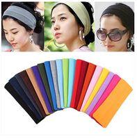 Wholesale Candy Color Vogue Women Yoga Sport Headband Simple Hairband Elastic cm Elastic Headband Sports Yoga Accessory headbands CCC1290