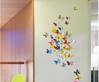 Wholesale Cinderella butterfly d butterfly decoration wall stickers pc d butterflies d butterfly pvc removable wall stickers butterflys Free Ship