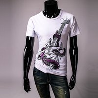 Cheap Electric Guitar 3D Printing tshirt homme Front Back Printed Full Sleeve Tees For Men O-Neck Rock Hip-Hop Mens T Shirts Big Size TS083