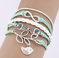 Celtic faith bracelet - 2015 retro owl leaves bracelet Infinity Anchor love Bracelet bird believe faith Charm Bracelets
