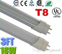 Cheap Warranty 3 Years + 18W 0.9m 3ft Led T8 Tubes Lights Fluorescent Lamp Warm Natrual Cold White AC 85-265V + CE ROHS UL CSA + Free Shipping