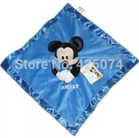 Wholesale New Original Mickey Mouse Baby Snuggle Blanket Cartoon Security Comfort Blanket D Towl Kids Sleepy Toys