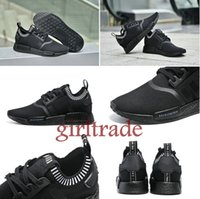 Wholesale Drop Shipping Free Famous Originals NMD Triple Black NMD TPU Women s Mens Unisex Sports Running Athletic Sneakers Shoes Size