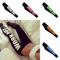 Wholesale Fashion Women Stretch Legging Punk Style Slim Fitness Sport Running Legging Colors Choose WYJ0004