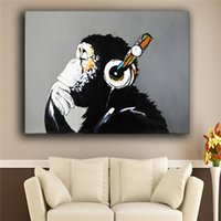 Wholesale High Quality hand painted new popular products frameless oil painting canvas monkey Gorilla sitting room adornment art of art