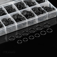 Wholesale 225 x Rubber O Ring O Ring Washer Seals Assortment Black Sizes