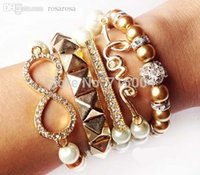 arm candy bracelet sets - PC Arm Candy Bracelet Sets Party Stacking Bracelet Bow Infinity Love Arm brazaletes SB