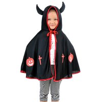 Cheap no brand cosplay capes Best 4-6T Halloween Day demon shawl