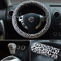 Wholesale Upscale winter plush steering wheel cover car steering wheel cover leopard fuzz factory outlets to cover