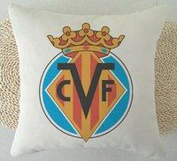 Wholesale Spain Football Club pillow cover Team logo Real Betis Celta Vigo Levante UD Villarreal CF throw pillow case
