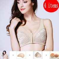 Wholesale Wire Free Professional Post Mastectomy Cotton Breast Pocket Bra With One Breast Prostheses Mammary Cancer