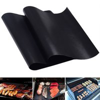 teflon coating - Free DHL Barbecue Grilling Liner Teflon BBQ Grill Mat Portable Non stick and Reusable Make Grilling Easy CM MM Oven Hotplate Mats