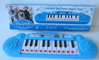 Wholesale keyboard electronic Frozen girl Cartoon electronic organ toy baby piano with music Musical instruments toy for kids