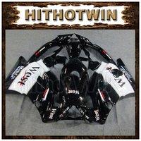 Cheap ABS Fairing for Honda CBR600F2 91--94 CBR 600 F2 brilliant black whiteFairing WEST CBR600 F2 1991 1992 1993 1994 get free 1 Inflator