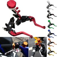 Wholesale High Quality Set Colour Multi color quot mm Universal Stainless Steel Motorcycle Brake Clutch Lever Master Cylinder Set