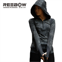 Wholesale Combat Hoodie - Wholesale-Women Tactical Shirt Outdoor Sport Hood Camouflage Elastic Breathable Hoodie for Hunting Combat CS Paintball Game