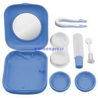 Wholesale New Good Quality Freeship Mini Contact Lens Travel Kit Case Pocket Size Storage Holder Container Accessories