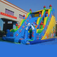 backyard water gardens - AOQI amusement inflatable slide garden high slide large plastic water slide made in professional manufacturer AOQI