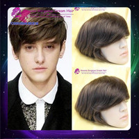 thin skin wig - Stock x10 Thin Skin Toupees Hair Slight wave Men s toupee Hair Toupees Hair Pieces Replacement