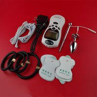 achat en gros de choc anal mâle-Male Electro-Stimulation Play Sex Kit ElectroSex Gear Sex Toys Electro Pulse Shock Therapy Urethral Penis Plug Cock Ring Butt Anal Plug