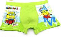 Wholesale Hot sale high quality Minions Plaid Cotton Despicable Me Gird Cartoon Adorable Kids Underwear Briefs Boxers Children Boys Underwears Brief