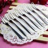 Wholesale 3pcs New arrival Fruit fork stainless steel western tableware dessert fork Portable children fork Kitchen supplies