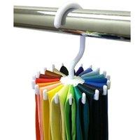 Wholesale 360 Rotating Tie Rack Adjustable Tie Hanger Holder Men Neck Ties Organizer