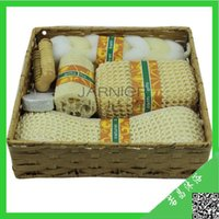 market basket - New Arrival sisal fiber Bath set loofah spone best gifting baskets new products on china market JARNIER