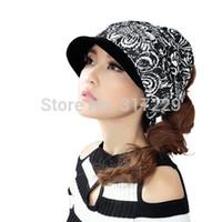 Wholesale New Hot Sale Women Winter Warm Flat Ponytail Hat Hip Hop Sports Girl Visors Cap Color