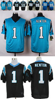 Wholesale Luke Kuechly Cam Newton Greg Olsen Stitched Jerseys Number Panthersded Blue Black White