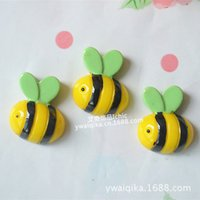 bees beauty - diy mobile beauty cream phone shell material simulation handmade children s hair accessories Resin Bee