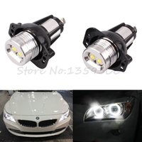 Wholesale 2Pcs Set LED Marker Angel Eyes Light Kit For BMW E90 Saloon E91 Touring No Canbus Error order lt no track