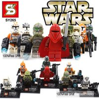 Wholesale SY265 Mini Star Wars Figures Star Wars Clone Troopers Red Guard Blocks Minifigures Newest Star Wars Action Figure For Kids