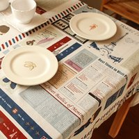 best dining room tables - BEST DESIGN table cloth cartoon Newspaper classic pattern tablecloth linen cotton table cover for dining room decoration