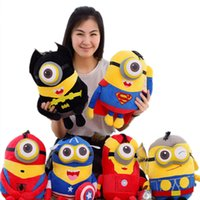 Wholesale 23cm Despicable Me les Minions toys doll Avengers Captain America Superman Spider Man Batman Plush Toys Stuffed Plush Animals JIA585