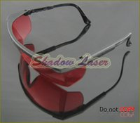 Wholesale 480pcs Red Safety Glasses For nm nm Green Blue Violet Blue Laser Ray Eye Laser Pointer Protection Goggles