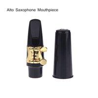 Wholesale Saxophone Accessories Alto Sax Saxophone Mouthpiece Plastic with Cap Metal Buckle Black New Arrival