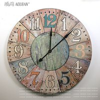 Wholesale 91CM large western style rustic French countryside XL decorative features nostalgic wall clock hanging table Villa