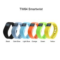 Wholesale fit bit tracker Tw64 bluetooth bracelet Smart bracelet Wristband Fitness tracker Bluetooth fitbit flex Watch for ios android