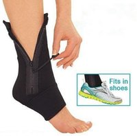ankle compression support - Ankle Genie Zip UP Compression Support Sport Protective Ankle Brace ankle pad hots sale LJJH346