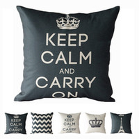 Wholesale S5Q Retro Vintage Home Decorate Cotton Linen Pillow Seat Back Case Cushion Cover AAAENE
