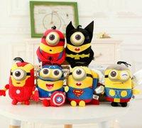 toys lots - 6pcs CM D Despicable ME Minion Thor Hulk spiderman batman Iron superman The Avengers Minion plush toys