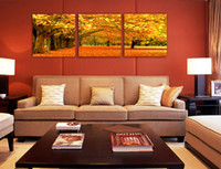 Wholesale Canvas painting Charming landscape Red tree painting Sunset piece canvas wall art Home decoration Modern art