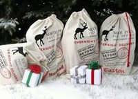 Wholesale fast delivery canvas santa sack christmas gift bags santa sacks styles available